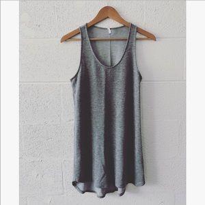Tresics grey tunic tank sz: Med